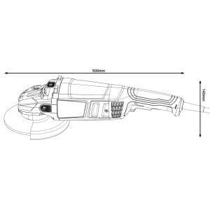 Angle Grinder Bosch 9 Inch, 2200W