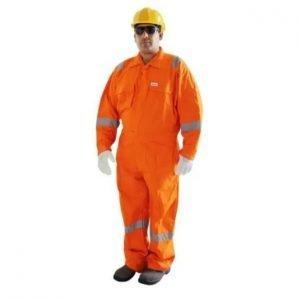 Coverall Orange Color 100% Cotton Vaultex
