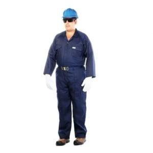 Coverall Navy Blue 100% Cotton Vaultex