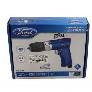 FAT-0107 Keyless Air Drill – Blue, 3/8 Inch