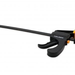 Quick Ratchet Bar F-Clamp, Black/Yellow