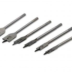 6 Pieces Wood Flat Zip Bit Set – Silver