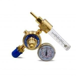 Gas Flow Meter Regulator – Blue/Gold