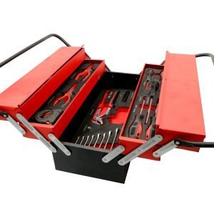 86 Pieces 5 Layer Tool Box Set – Red