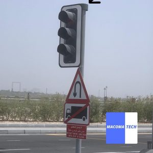 3D printed and spray painted traffic light pole covers for the Road and Transport Authority in UAE The cover is used to prevent dust and water from entering the pole.