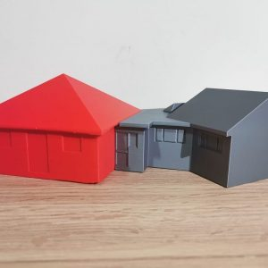 3D Designed and Printed an architectural model for the client's new home based on the 2D layout plan.